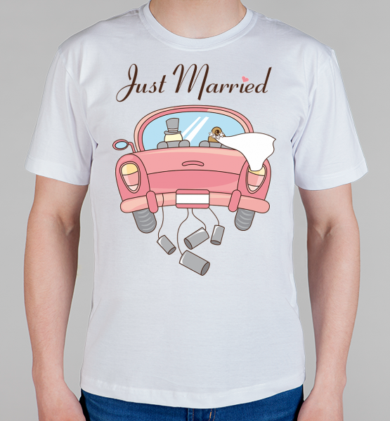 "Майка ""Just married"""